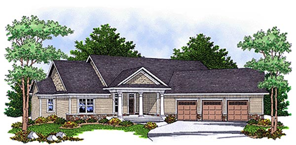 Ranch Traditional House Plan 73121 Elevation