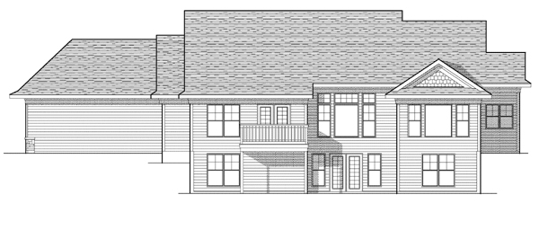 Ranch Traditional House Plan 73121 Rear Elevation
