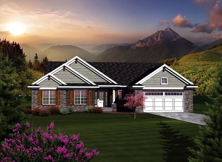 Ranch House Plan 73122 Elevation