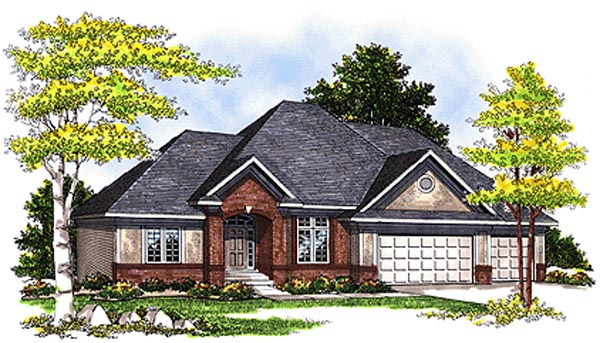 European House Plan 73123 Elevation
