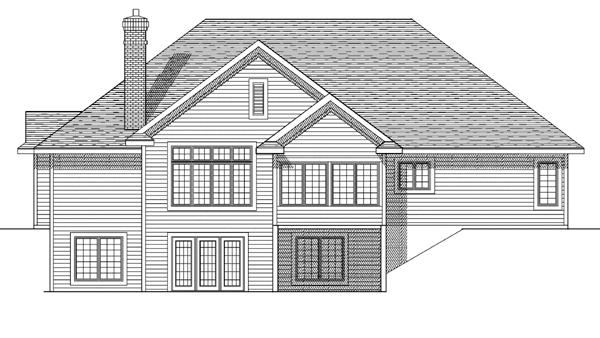 Traditional House Plan 73124 Rear Elevation