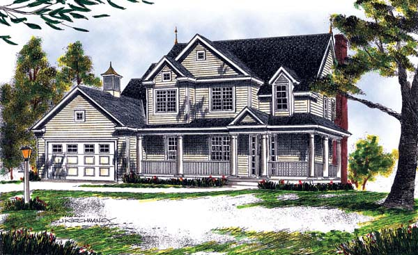 Farmhouse House Plan 73125 Elevation