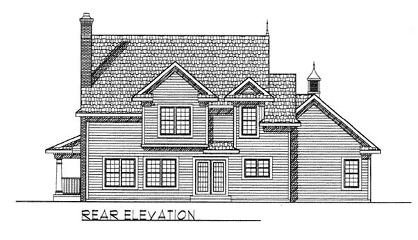 Farmhouse House Plan 73125 Rear Elevation