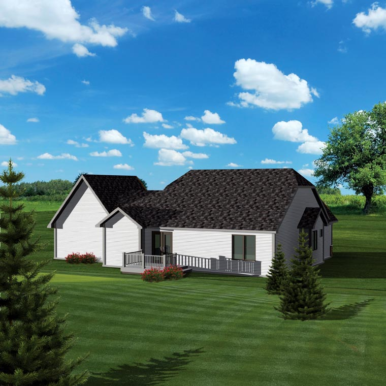 Ranch House Plan 73127 Rear Elevation