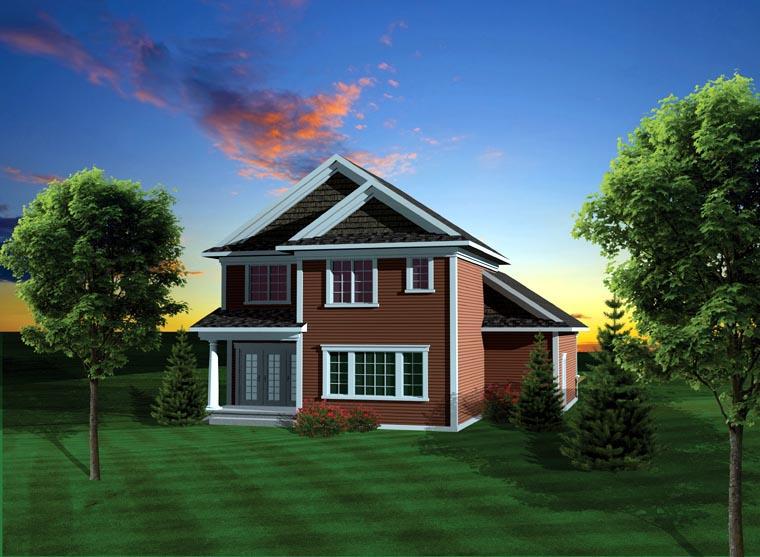 House Plan 73129 Rear Elevation