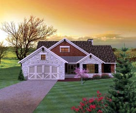 Ranch House Plan 73130 Elevation