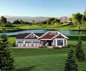 Craftsman Ranch House Plan 73131 Elevation