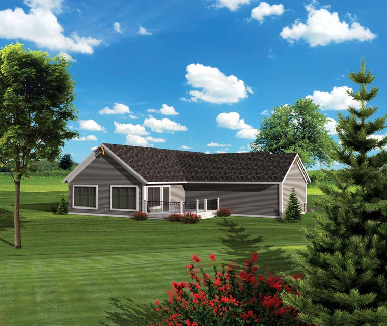 Craftsman Ranch House Plan 73131 Rear Elevation