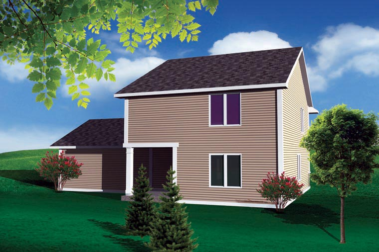 Traditional House Plan 73133 Rear Elevation