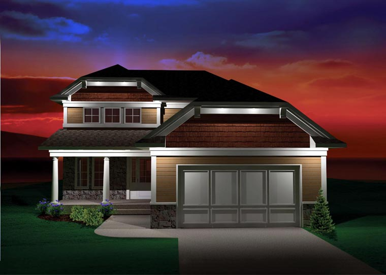 Craftsman House Plan 73134 with 3 Beds, 3 Baths, 2 Car Garage Elevation