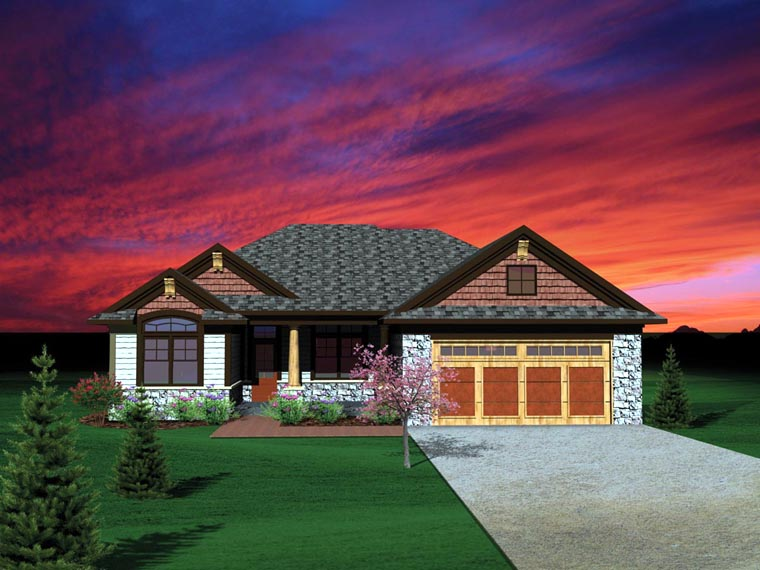 Ranch Traditional House Plan 73136 Elevation
