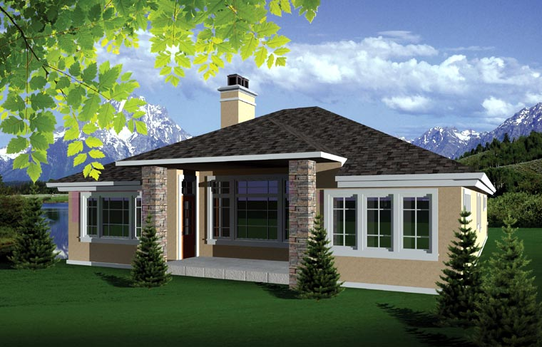 Ranch House Plan 73138 Rear Elevation