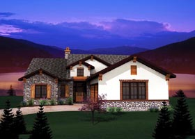Ranch Traditional House Plan 73139 Elevation