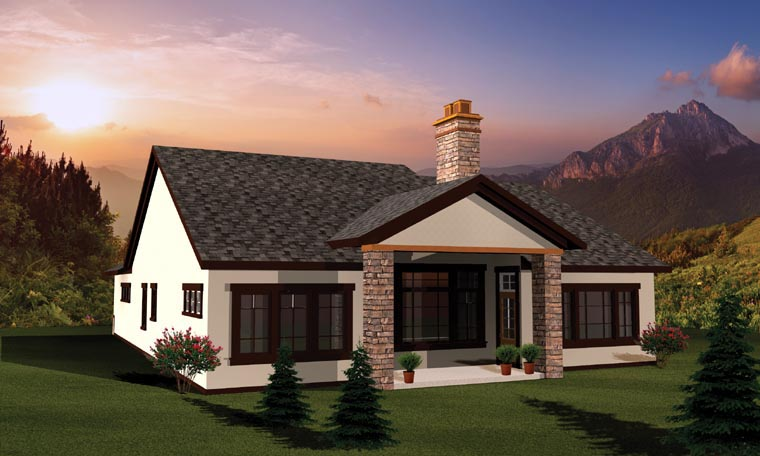 Ranch Traditional House Plan 73139 Rear Elevation