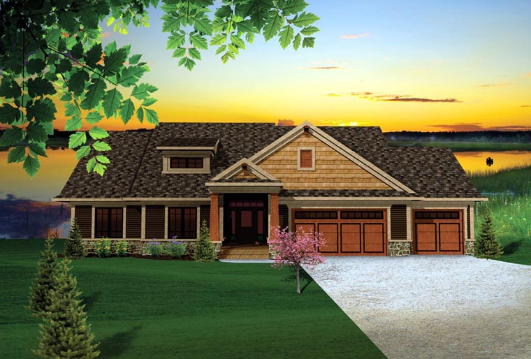 Craftsman Traditional House Plan 73140 Elevation
