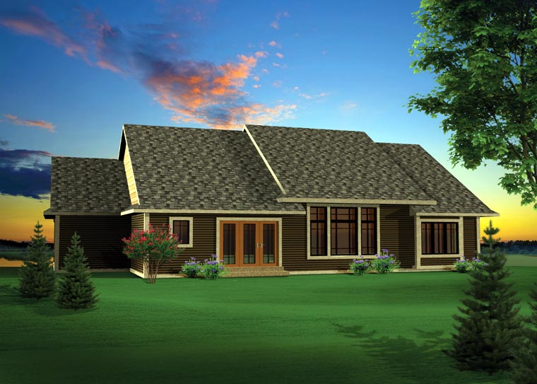 Craftsman Traditional House Plan 73140 Rear Elevation