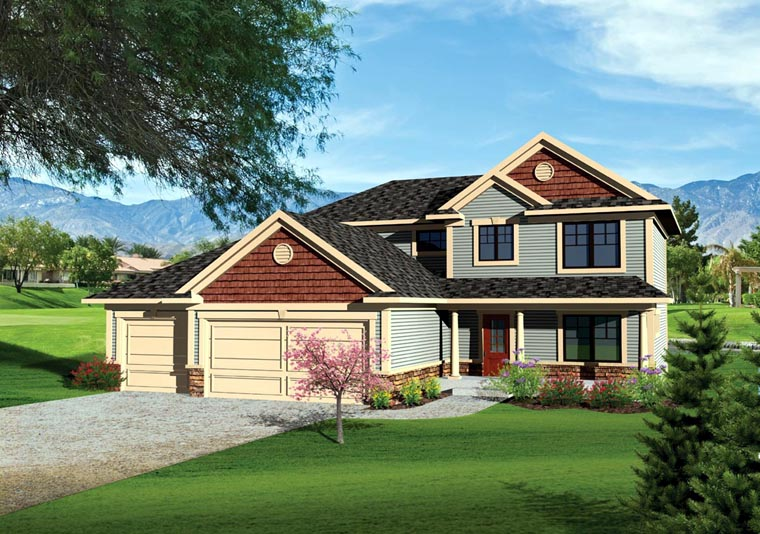 Traditional House Plan 73142 Elevation