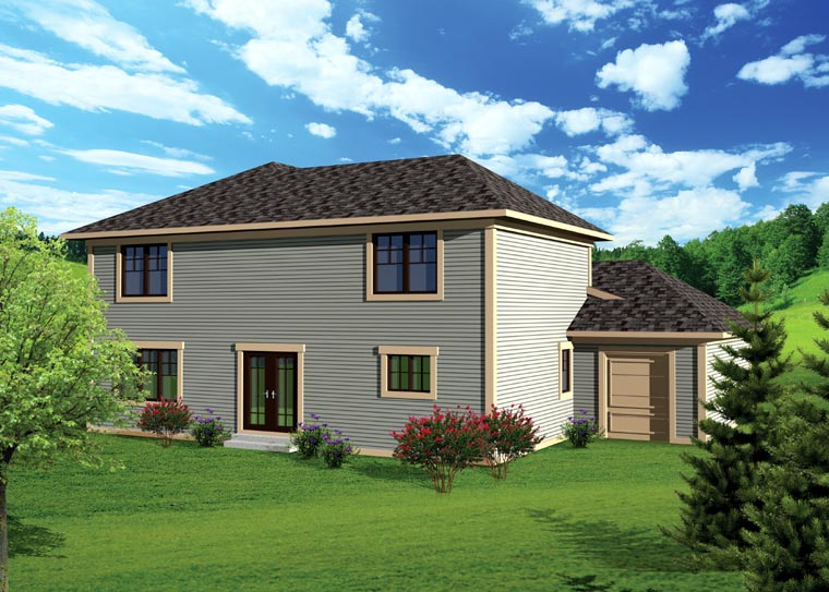 Traditional House Plan 73142 Rear Elevation