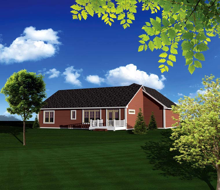 Ranch House Plan 73149 Rear Elevation