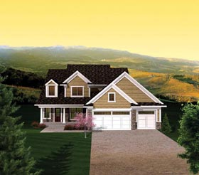 House Plan 73155 | Style Plan with 2250 Sq Ft, 4 Bedrooms, 3 Bathrooms, 3 Car Garage Elevation