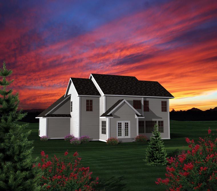 House Plan 73155 | Style Plan with 2250 Sq Ft, 4 Bedrooms, 3 Bathrooms, 3 Car Garage Rear Elevation