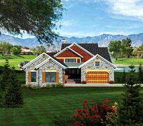 Ranch House Plan 73157 Elevation