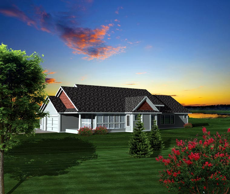 Ranch House Plan 73159 Rear Elevation