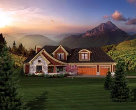 House Plan 73161 | Style Plan with 2811 Sq Ft, 3 Bedrooms, 3 Bathrooms, 3 Car Garage Elevation