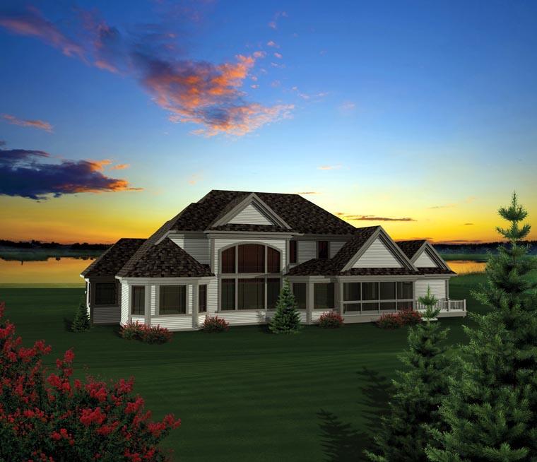 House Plan 73162 Rear Elevation