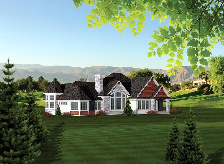 Ranch House Plan 73163 Rear Elevation