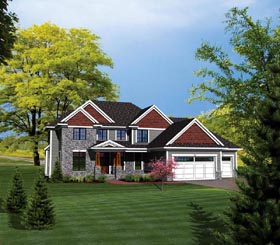 House Plan 73164 Elevation