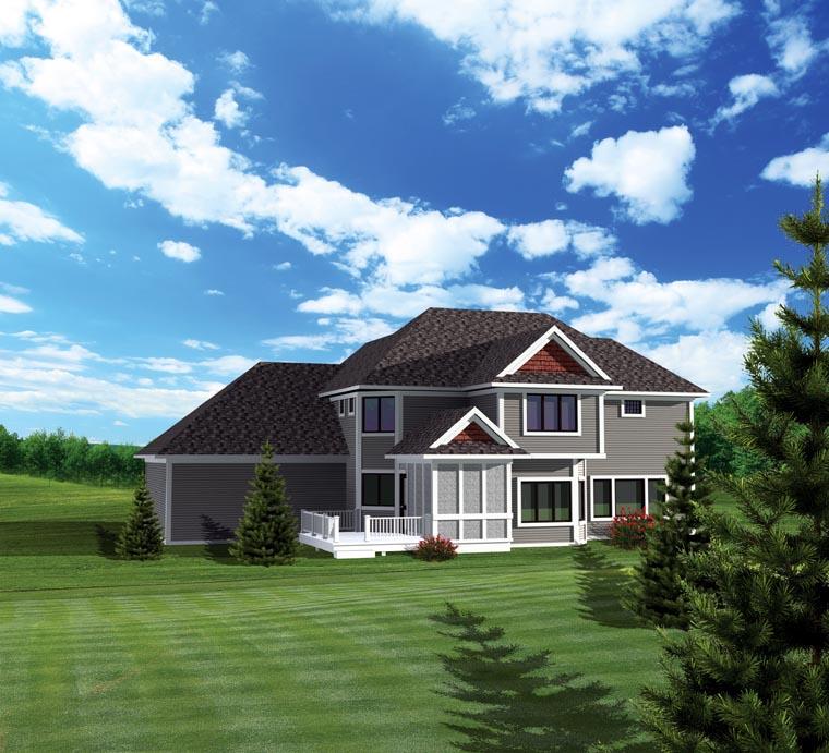 House Plan 73164 Rear Elevation