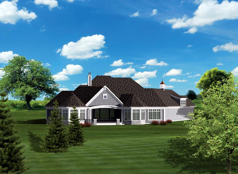 Ranch House Plan 73165 Rear Elevation