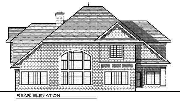 European Tudor House Plan 73171 Rear Elevation