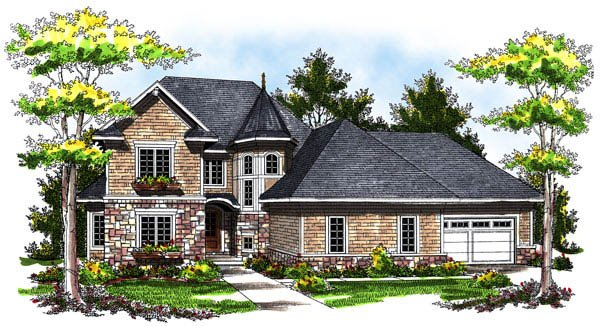 European Victorian House Plan 73172 Elevation