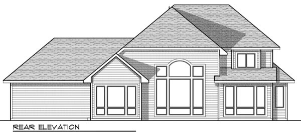 European Victorian House Plan 73172 Rear Elevation