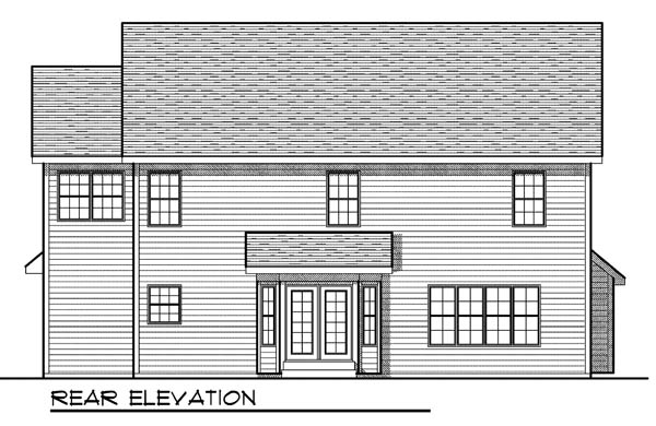 Traditional House Plan 73173 Rear Elevation