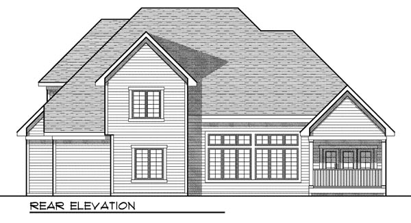 European House Plan 73174 Rear Elevation