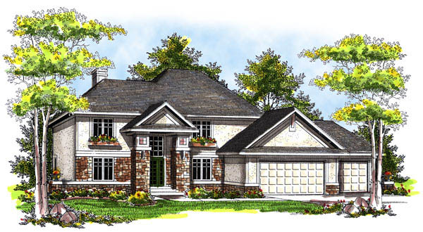 Contemporary Traditional House Plan 73175 Elevation