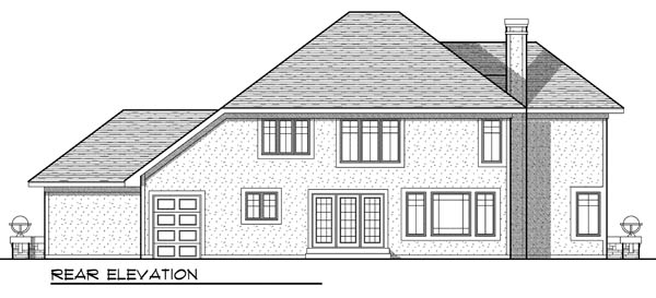 Contemporary Traditional House Plan 73175 Rear Elevation