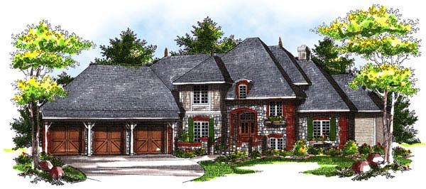 European Tudor House Plan 73176 Elevation