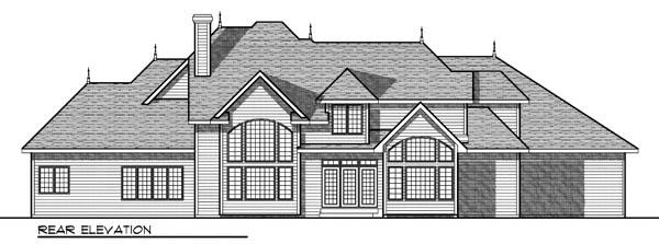 European Tudor House Plan 73176 Rear Elevation