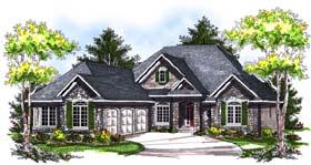 European House Plan 73177 Elevation