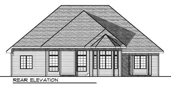 European House Plan 73177 Rear Elevation
