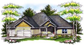 Traditional House Plan 73178 Elevation