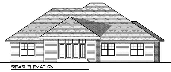 Traditional House Plan 73178 Rear Elevation
