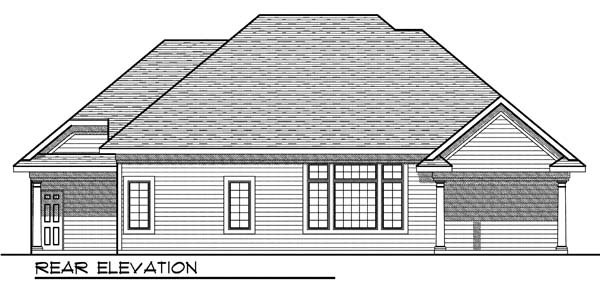 Traditional House Plan 73179 Rear Elevation