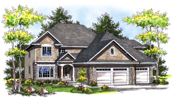 European House Plan 73181 Elevation