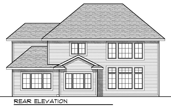 European House Plan 73181 Rear Elevation