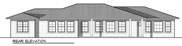 Mediterranean Prairie Style Southwest House Plan 73182 Rear Elevation